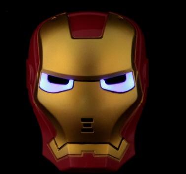 mặt nạ iron man 3D phát sáng